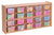 20 Tray Storage Cabinet w/Opaque Color Trays - Honor Roll Childcare Supply