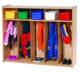 Toddler Five Section Locker-RTA - Honor Roll Childcare Supply