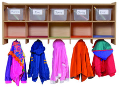 Wall Locker-Colored Trays - Honor Roll Childcare Supply