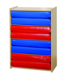 Four Section Rest Mat Storage Unit - Honor Roll Childcare Supply