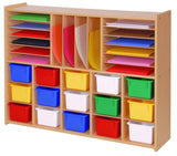 Multi-Section Storage w/o Trays - Honor Roll Childcare Supply