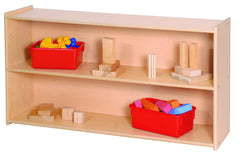 "27"" High Two Shelf Storage - Honor Roll Childcare Supply"