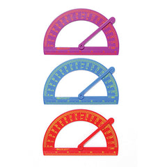 PLASTIC PROTRACTOR WITH ARM - Honor Roll Childcare Supply