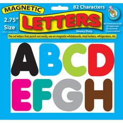 2 3/4IN ASST COLOR MAGNETIC LETTERS - Honor Roll Childcare Supply