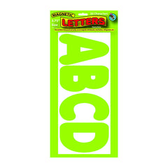 3 3/4IN MAGNETIC LETTERS LIME GREEN - Honor Roll Childcare Supply