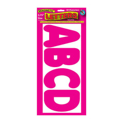3 3/4IN MAGNETIC LETTERS MAGENTA - Honor Roll Childcare Supply
