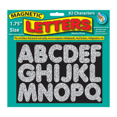 1 3/4IN MAGNETIC LETTERS SILVER - Honor Roll Childcare Supply