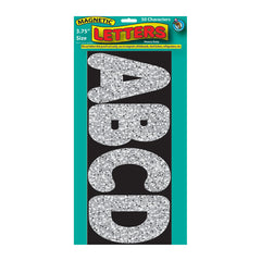 3 3/4IN MAGNETIC LETTERS SILVER - Honor Roll Childcare Supply