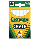 12 STICKS - TUCK BOX WHITE CHALK - Honor Roll Childcare Supply