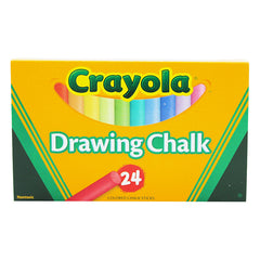 CRAYOLA COLORED DRAWING CHALK 24PK - Honor Roll Childcare Supply