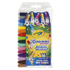 16 CT PIP SQUEAKS SKINNIES MARKERS - Honor Roll Childcare Supply