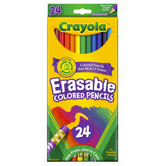 24 CT ERASABLE COLORED PENCILS - Honor Roll Childcare Supply
