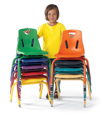"Jonti-Craft 14"" 6-Pack Berries® Plastic Chair w/Powder Coated Legs - Honor Roll Childcare Supply"