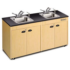 Hot Water Portable Sink-Two-Station Single Stainless Steel Basins - Honor Roll Childcare Supply