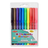 WASHABLE MARKERS 10 COLOR SET
