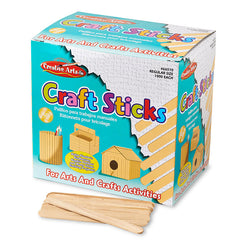 1000 PC NATURAL CRAFT STICKS - Honor Roll Childcare Supply