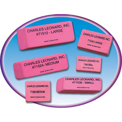 36/BX PINK ECONOMY WEDGE ERASERS - Honor Roll Childcare Supply