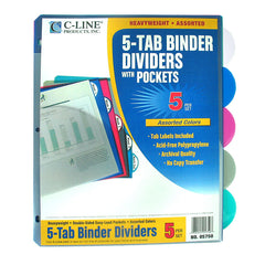 5 TAB POLY INDEX DIVIDERS WITH - Honor Roll Childcare Supply
