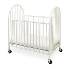 L.A. Baby Arched Metal Mini/Portable Crib - Honor Roll Childcare Supply
