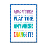 A BAD ATTITUDE IS  INSPIRE U POSTER - Honor Roll Childcare Supply