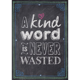 A KIND WORD IS NEVER WASTED POSTER - Honor Roll Childcare Supply