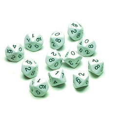 10 SIDED POLYHEDRA DICE SET OF 12 - Honor Roll Childcare Supply