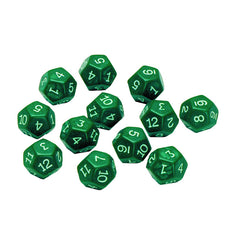 12 SIDED POLYHEDRA DICE SET OF 12 - Honor Roll Childcare Supply