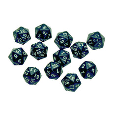 20 SIDED POLYHEDRA DICE SET OF 12 - Honor Roll Childcare Supply
