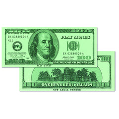 $100 BILLS SET OF 50 - Honor Roll Childcare Supply
