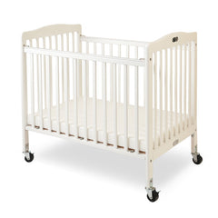 L.A. Baby The Little Wood Crib-Mini/Portable Folding Wood Crib - White Color - Honor Roll Childcare Supply