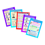 5 POSTER SET WRITING SKILLS - Honor Roll Childcare Supply