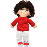 19 SOFT CUDDLY DOLL W/ GLASSES BOY - Honor Roll Childcare Supply