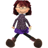 19 SOFT CUDDLY DOLL W/ GLASSES GIRL - Honor Roll Childcare Supply