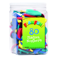 80 FOAM FUN MAGNET NUMBERS - Honor Roll Childcare Supply