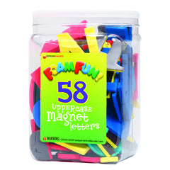 58 FOAM FUN MAGNETS UPPER LETTERS - Honor Roll Childcare Supply