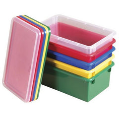 12 Pack-Stack & Store Tubs with Lids - Honor Roll Childcare Supply