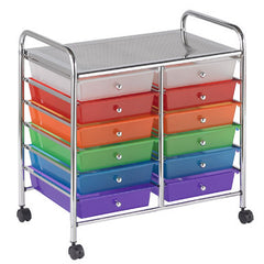 12 Drawer Mobile Organizer - Honor Roll Childcare Supply