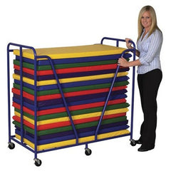 20 Rainbow Rest Mats & Trolley - Honor Roll Childcare Supply