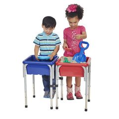 2 Station Square Sand & Water Table with Lids - Honor Roll Childcare Supply