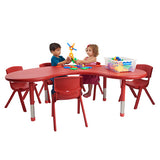 "Resin Table Kidney 65"" - Honor Roll Childcare Supply"