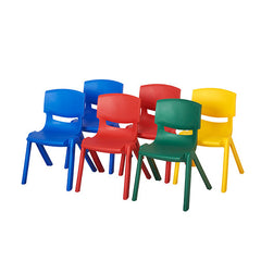 "6-Pack 10"" Resin Chair-Asst'd - Honor Roll Childcare Supply"