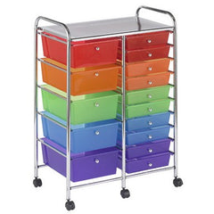 15 Drawer Mobile Organizer - Honor Roll Childcare Supply