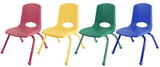 "ECR4Kids 6 Pack - 16"" Stack Chair Matching Legs"
