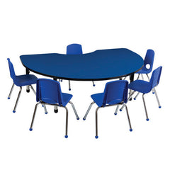 "Kidney Table & 6 14"" Stack Chairs - Honor Roll Childcare Supply"