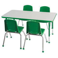 "24""x48"" Tbl & 4 14"" Chairs - Honor Roll Childcare Supply"