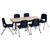 "24""x48"" Tbl & 6 10"" Chairs - Honor Roll Childcare Supply"