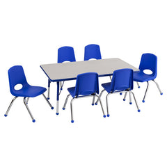 "30""x48"" Tbl & 6 12"" Chairs - Honor Roll Childcare Supply"