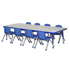 "30""x72"" Tbl & 8 12"" Stack Chairs - Honor Roll Childcare Supply"