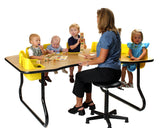 Toddler Tables - 8 Seat Toddler Feeding Table - Honor Roll Childcare Supply
