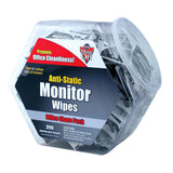 ANTI STATIC MONITOR WIPES 200CT TUB - Honor Roll Childcare Supply